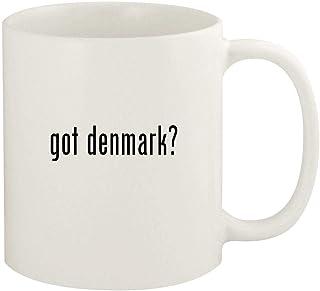 got denmark? - 11oz Ceramic White Coffee Mug Cup, White
