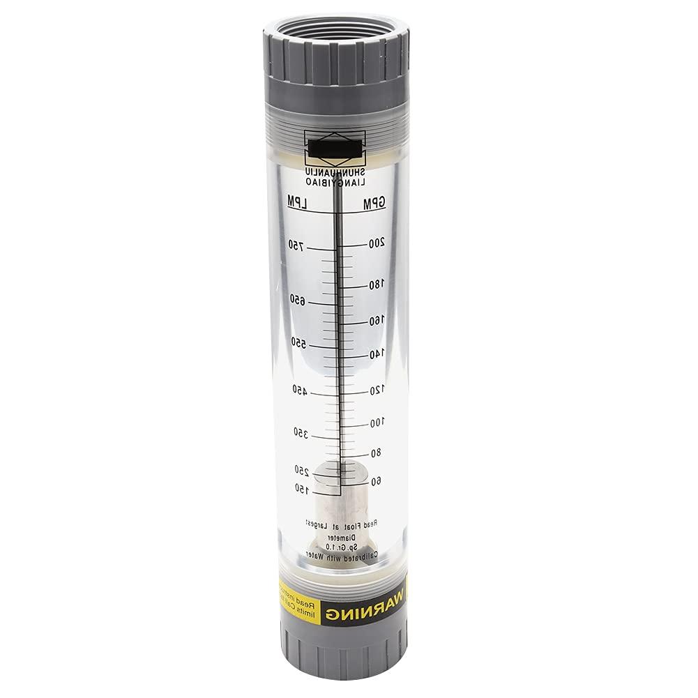 Caudalímetro De Líquido Tipo Tubo, Medidor De Caudal Herramienta De Medición De Líquidos De Tamaño Portátil Para Departamentos De Investigación Científica Para La Medición De(60-200GPM)