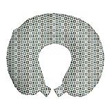 ABAKUHAUS Casinò Cuscino da Viaggio, Diamonds Cuore Picche, Accessorio in Schiuma di Memoria per Viaggio, 30 cm x 30 cm, Multicolore