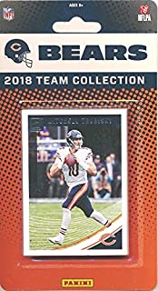 Chicago Bears 2018 Donruss NFL Football Factory Sealed Limited Edition 11 Card Complete Team Set Mitchell Trubisky, Jordan Howard, Tarik Cohen, 2018 Hall of Famer Brian Urlacher & Many More! WOWZZER!