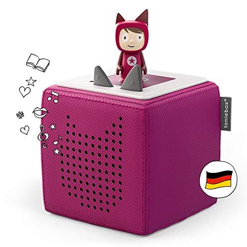 tonies Toniebox Starterset Beere: Toniebox + Kreativ tragbare Lautsprecher Hörfiguren und Kreativ Kinder ab 3 Jahren - DEUTSCH