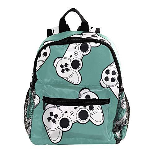 Indimization Zaino della scuola elementare Joystick Gamepad Elegante Zaino scuola materna impermeabile borsa scuola con tracolla regolabile unisex 25.4x10x30 CM