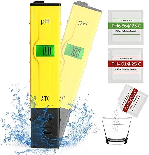 Koopower PH Messgerät, Digital PH Tester mit LCD Anzeige, tragbarer Tester/Messer für Aquarium, pH Wert Meter für Pools, Monitor für Aquarium und Pool Wasser