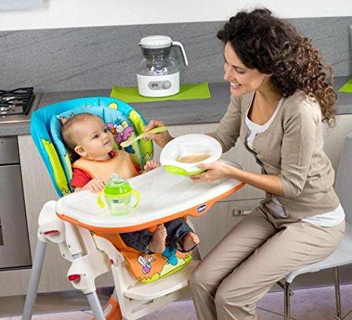 Chicco Polly - Trona 2 en 1 para niños de 6 meses a 3 años, compacta, 10 kg, color azul