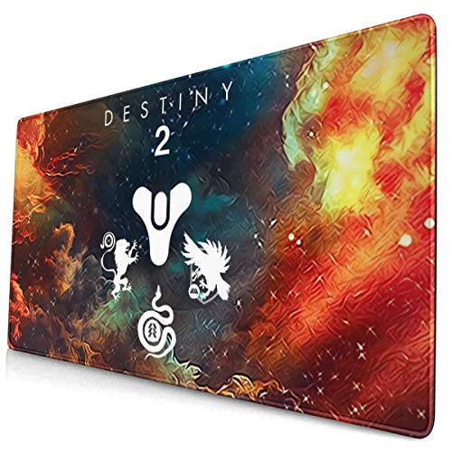 De-Sti_Ny 2 Personalized Computer Desk Pad Gaming Mouse Pad Large Mouse Pad Non-Slip Rubber Mouse Pad Seam 15.8x29.5 Inches