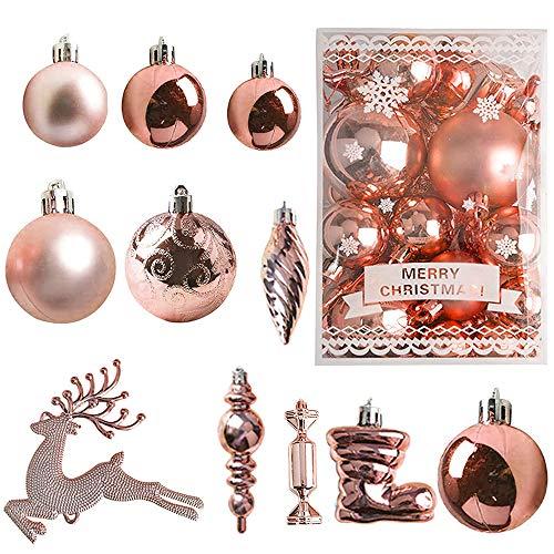 30PCS Palle Di Natale Colorate,Ornamenti Infrangibili Della Palla Di Natale,Palle Di Plastica Per Ornamenti Natalizi,Ornamenti Della Palla Dell'albero Di Natale,Palle Per Decorare