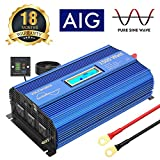 1500W Pure Sine Wave Power Inverter DC 12v to AC 110v-120v with...