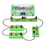 HSDCK Kit de Circuito eléctrico, Equipo de experimentos Ciencias con Motor y del Bulbo para los niños, Stem Bricolaje Proyecto de Ingeniería Eléctrica de la física básica de Aprendizaje de Arranque