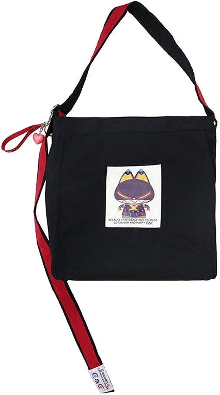 LANDONA Messenger Tasche Leinwand Leinwand Leinwand Tasche weibliche koreanische Studenten Harajuku Schultertasche große koreanische einfach wild - Schwarz B07HFLL8SN  Schönes Design b999ac