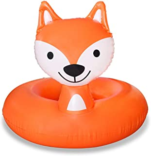 Pool Floats, Fox Pool Float for Kids Inflatable Float Ring Durable Pool Floaties Swimming Water Raft Tube Beach Outerdoor Pool Party Lounge Decorations Toys for Children Girls Boys