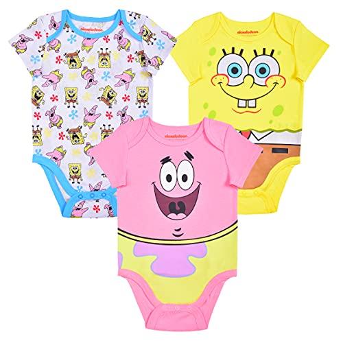Nickelodeon's Spongebob 3 Pack Short Sleeve Creeper Set, Baby's...