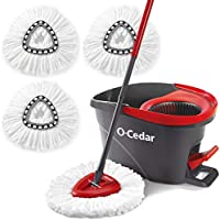 O-Cedar Easywring Microfiber Spin Mop & Bucket Floor Cleaning System