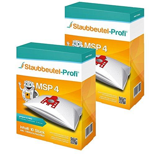 20 Staubsaugerbeutel MSP4 von Staubbeutel-Profi® kompatibel zu Swirl M40, Swirl M49 & Org. Miele Typ G/N GN HyClean 3D