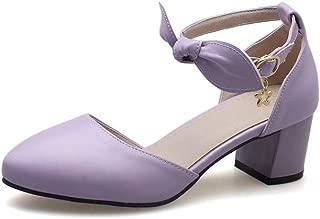 BalaMasa Womens ASL06069 Pu Block Heels