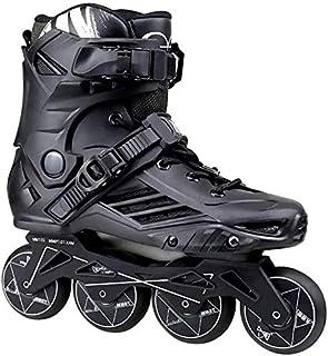 調整可能なインラインスケートスケートシューズアダルトPUフラッシュホイールスピードインラインスケートシューズアダルトユニセックス&女性ラディローラースケート10代スニーカーズプロフェッショナル、サイズ:42 EU / 9 US / 8 UK /...