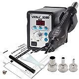 YIHUA 959d Digital Estación de aire caliente 100 & # x2103; hasta 500 & # x2103; 650 W SMD 0IRHP100 A-03 Station + 3 boquillas