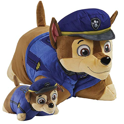 Pillow Pets Nickelodeon Paw Patrol Chase Set, 16' Chase 5' Chase Mini, Plush Stuffed Animal Toys, Multicolor
