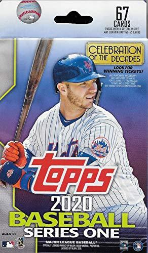 Topps 2020 MLB Baseball Series One Factory Sealed Hanger Box mit 67 Karten pro möglicher Autogramme, Game Used Relic Karten uvm.