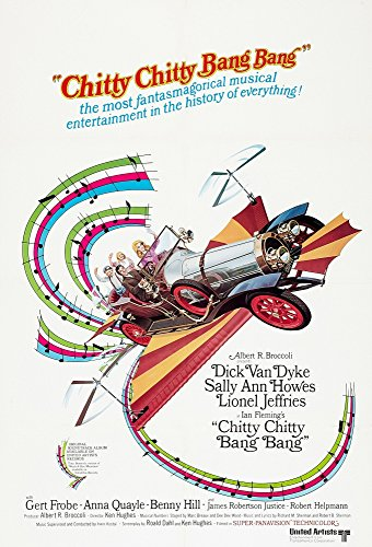 Posterazzi Chitty Bang Dick Van Dyke Sally Ann Howes 1968 Movie Masterprint Poster Print, (11 x 17)