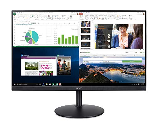 "Acer CB272 bmiprx 27"" Full HD (1920 x 1080) IPS Zero Frame Home Office Monitor with AMD Radeon FreeSync - 1ms VRB, 75Hz Refresh, Height Adjustable Stand with Tilt & Pivot (Display, HDMI & VGA ports)"