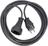 Brennenstuhl cable alargador de corriente de 5 m (alargador eléctrico para interiores, protección infantil) negro