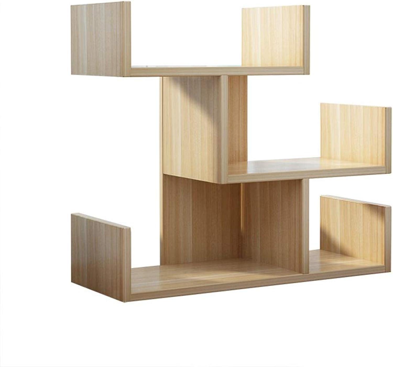 Feifei Bookshelf MDF Creative Mini Desktop Bookshelf Storage Rack 45  17  43CM, 4 colors (color   A)