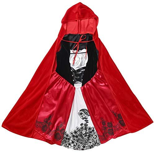 SOIMISS1 Juego Disfraces de Caperucita Roja Disfraz de Halloween para niños Traje de Disfraces Ropa para niños Niñas (Colores Surtidos, S)