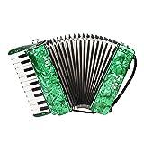 Abarich アコーディオン,22-キー8低音のピアノアコーディオン ストラップ手袋学生初心者の学童用のクリーニングクロス教育楽器
