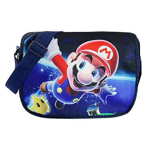 Super Mario Bros Cute Cartoon Umhängetasche Schultertasche Cosplay Schulranzen (B)