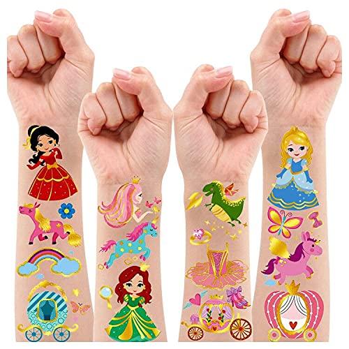 Leesgel Princess Party Decorations for Girls, 12 Sheets Metallic Glitter...