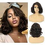 Brazilian Human Hair Wigs Side Part Lace Parting Short Wig Brazilian Remy Hair Wigs for Women (10'NAYOO-04, 4/100)