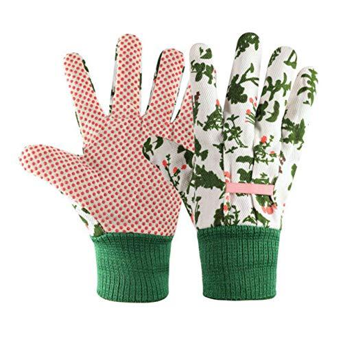 Gardening Gloves for Women(2 Pairs) Comfortable Breathable Non-Slip Flexible. (white)