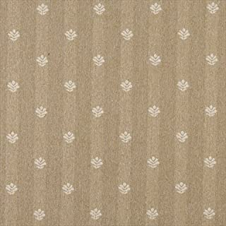 Designer Fabrics C607 54 in. Wide Gold And Ivory44; Leaves Country Style Upholstery Fabric