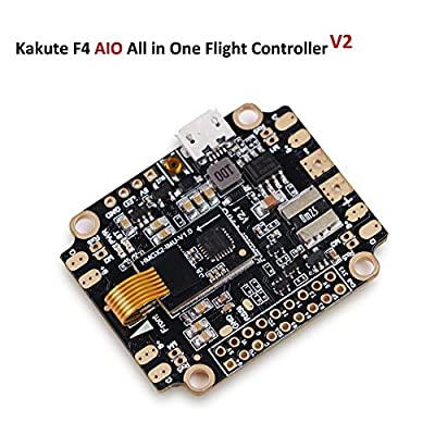 LITEBEE Kakute AIO F4 Flight Controller (V2) Integrated PDB, Betaflight OSD, BEC (6-axis Gyro, 120A Maximum Continuous Current, Input voltage 7v-42v) for PFV Racing RC Drone Quadcopter