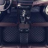 Estera del piso del coche para Usado para Encargo del piso del coche tapetes de Audi A7 parte posterior del frente de suelo Revestimiento antideslizante cuero resistente al agua Alfombras Set, Negro l