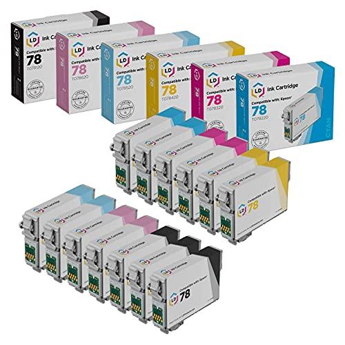LD Remanufactured Ink Cartridge Replacement for Epson 78 (3 Black, 2 Cyan, 2 Magenta, 2 Yellow, 2 Light Cyan, 2 Light Magenta, 13-Pack)