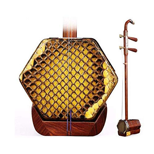 Erhu, Erhu Musikinstrument, Palisander-Knochen schnitzte Kupfer Shaft Erhu, Erwachsene Anfänger Musikinstrument, Sechs-Parteien-ethnische Musikinstrument, mit Stoß- Box (Farbe: Palisander) DUZG