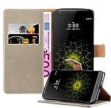 Cadorabo Coque pour LG G5 en Marrone Cappucino - Housse Protection avec Fermoire Magnétique, Stand...