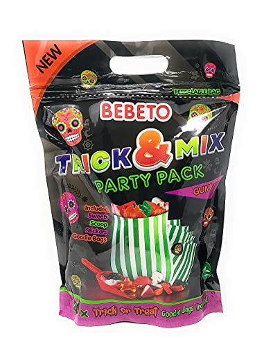 Bebeto Trick & Mix Halloween Sweet Party Pack 20x Trick or Treat Goodie Bags Included (750g)