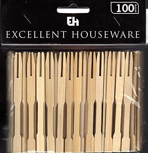 Party Cocktail Gäbelchen Fingerfood Holz Bambus Picker 100 Stück