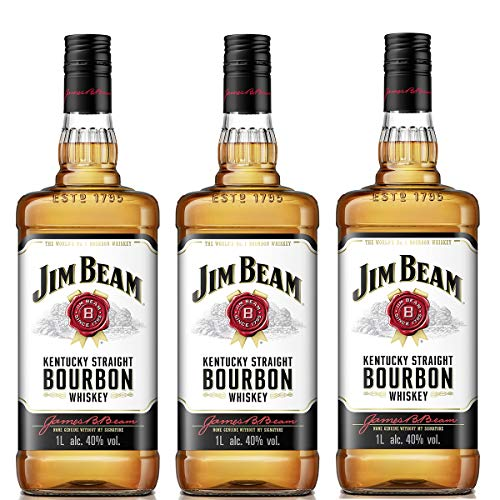 Jim Beam Bourbon Whisky 3 x 1 Liter