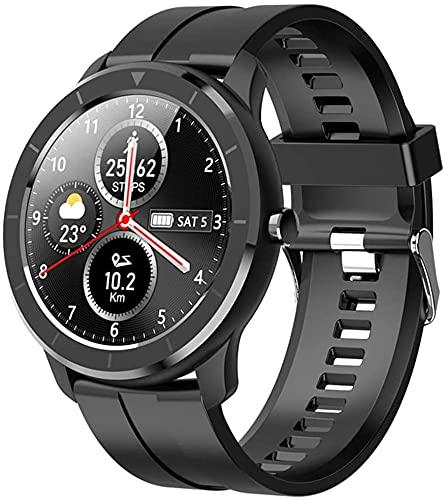 Reloj Fitness Tracker Reloj Deportivo Inteligente Pulsera Inteligente Pantalla Táctil Completa De Marcado Personalizado IP68 A Prueba De Agua Smartwatch Para Hombre / Mujer / Niños ( Color : Black )