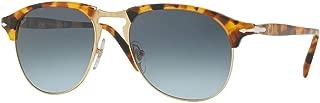 Persol PO8649S Sunglasses Madreterra w/Blue Gradient Lens 105286 53mm PO 8649S PO 8649S PO8649-S PO 8649-S