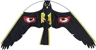 Jzenzero Bird Scarer Repeller Flying Hawk Kite Kit for Garden Scarecrow Yard House Decoration
