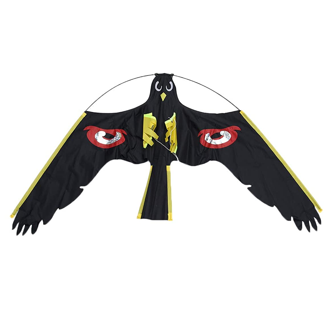 kebyy Bird Scarer Repeller Flying Hawk Kite Kit for Garden Scarecrow Yard House Decoration