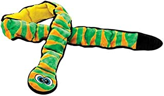 Outward Hound Invincibles Squeaking Dog Toy, Durable Tough Plush Snake by, Ginormous 12 Squeakers, Green