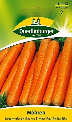 Möhrensamen - Möhre Lange rote Stumpfe ohne Herz 2 von Quedlinburger Saatgut