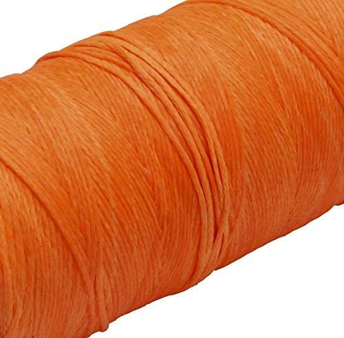 Perlin 5 Meter Wachsband 1mm Sattlergarn Orange Geflochtet 100% Polyester Forellenfäden Nähen Handwerk C320