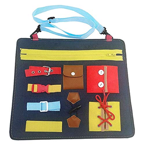 Yeefant Learning Board Wardrobe Teaching Bag Baby 1-5 Years Old Educational Toys Creative Learning Resources Educational Travel Toys Gift for Boys Girls Toddlers Best Toy Gift for Kids Funny Game Kit