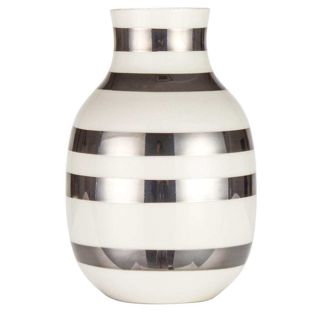 冗長非効率的な神[ ケーラー ] Kahler オマジオ フラワーベース スモール 花瓶 陶器 シルバー 15211 Omaggio vase H125 花びん ベース デンマーク 北欧雑貨 おしゃれ ギフト [並行輸入品]